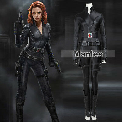 Halloween Marvel Avenger Cosplay Black Widow Natasha Superhero Women Costume