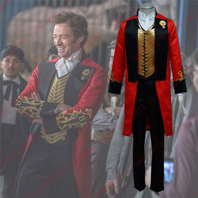 The Greatest Halloween Costumes (The Greatest Showman P. T. Barnum Carnival Red Outfits Cosplay Costume)