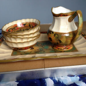 Glass water pitcher set