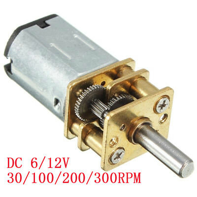 612v 30010030rpm Mini Dc Metal Gear Motor With Gearwheel Shaft Diameter N20
