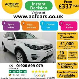 image for 2015 WHITE LAND ROVER DISCOVERY SPORT 2.2 SD4 HSE LUX CAR FINANCE FR £337 PCM