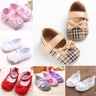 Baby Infant Girls Kids Toddler Soft Sole Crib Newborn Anti-S