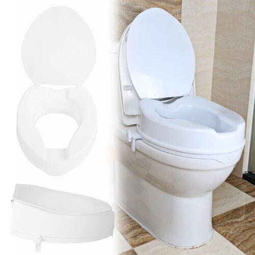 Toilettensitzerhöher 10cm Deckel Toilettensitz Toilettenaufsatz WC Erhöhung MMC
