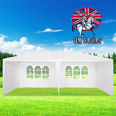 3m x 6m White Waterproof Outdoor PE Garden Gazebo Party Canopy Tent Marquee