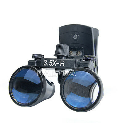 Dental Binocular Loupes Surgical Glasses Magnifier Clip On Style Dy-110 3.5x-r