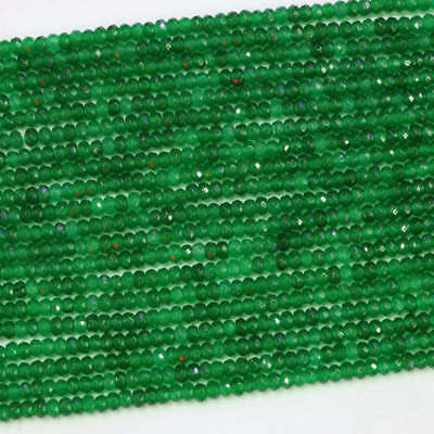 """New 2x4mm natural Green Emerald faceted gemstone abacus loose beads 15""""jewelry for sale  China"""