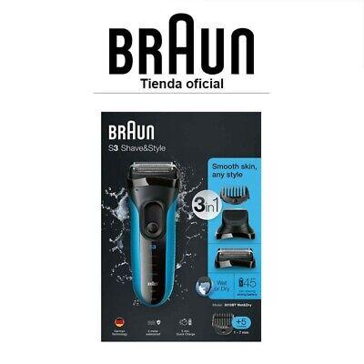 Afeitadora Eléctrica Hombre Braun Series 3 3010 BT Wet & Dry con...