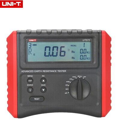 Uni-t Ut572 Advance Earth Resistance Tester Soil Resistivity Test Data Storage