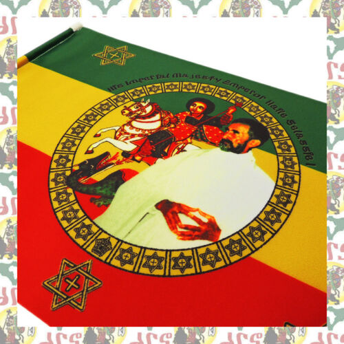St.George  [drs] Hand Flag Banner Tapestry (45cmx30cm) Ethiopia Haile Selassie