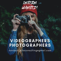 PHOTOGRAPHERS AND VIDEOGRAPHERS WANTED!
