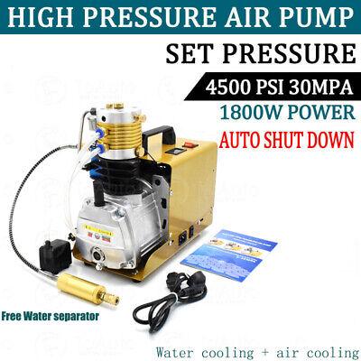30mpa Autoshut High Pressure Pcp Air Compressor Pump Pcp 110v Paintballscuba