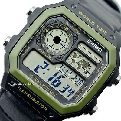 Casio retro MILITARY aviator 3 traveler vintage watch orologio MONTRE g shock