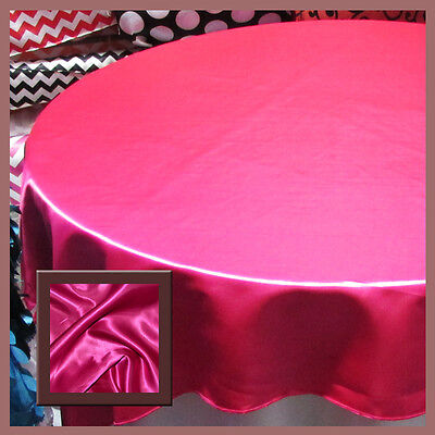 10 Pcs. Tablecloth Round 108 Satin For 5 Feet table Cover Fuchsia - Pink Round Table Cover