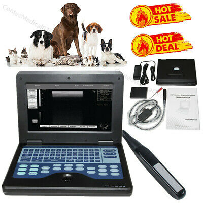 Veterinary Ultrasound Scanner Portable Laptop Machine Animal 7.5mhz Rectal Probe