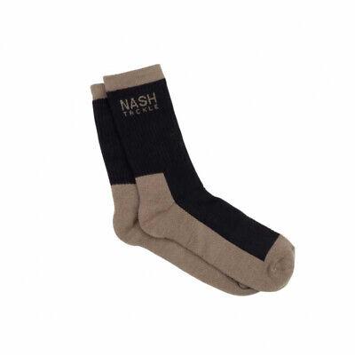 Nash Tackle Socks - Long, 2 Pairs Green & Black - Carp Fishing Clothing *NEW*
