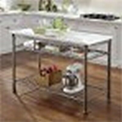 Home Styles The Orleans Kitchen Island with Marble Top Powder Coated Steel  NEW ()