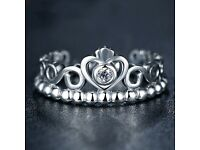 Pandora Princess ring (silver) 1/3 of rrp .perfect condition ><