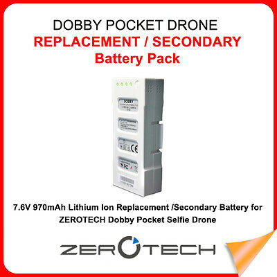 OEM ZeroTech DOBBY Drone DB16-100B Replacement Battery 7.6V 970mAh 2S Battery