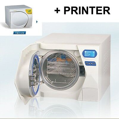 14L Dental Autoclave Sterilizer Medical Vacuum Steam Sterilization with Printer for sale  China
