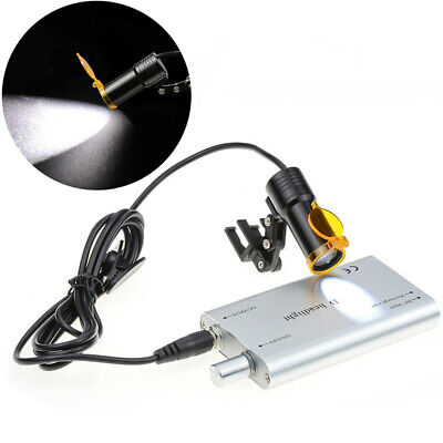 Dental 5w Led Head Light With Filter For Binocular Loupes Insert Type Silver