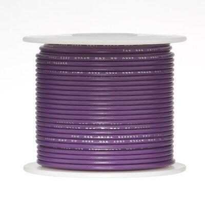 """22 AWG Gauge Stranded Hook Up Wire Violet 500 ft 0.0253"""" UL1015 600 Volts"""