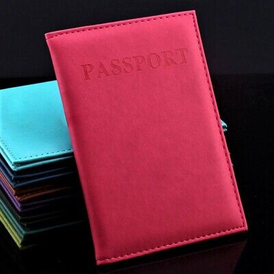 Travel Passport Holder Wallet High-Quality Leather Cover ID Credit Card Holder
