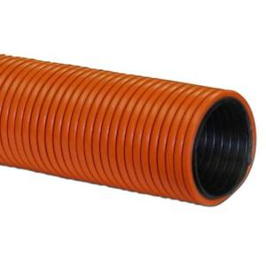 "Air Hose Double Walled Heavy Duty 50' X 2"" Orange With Black Liner Crushproof Made In Usa"