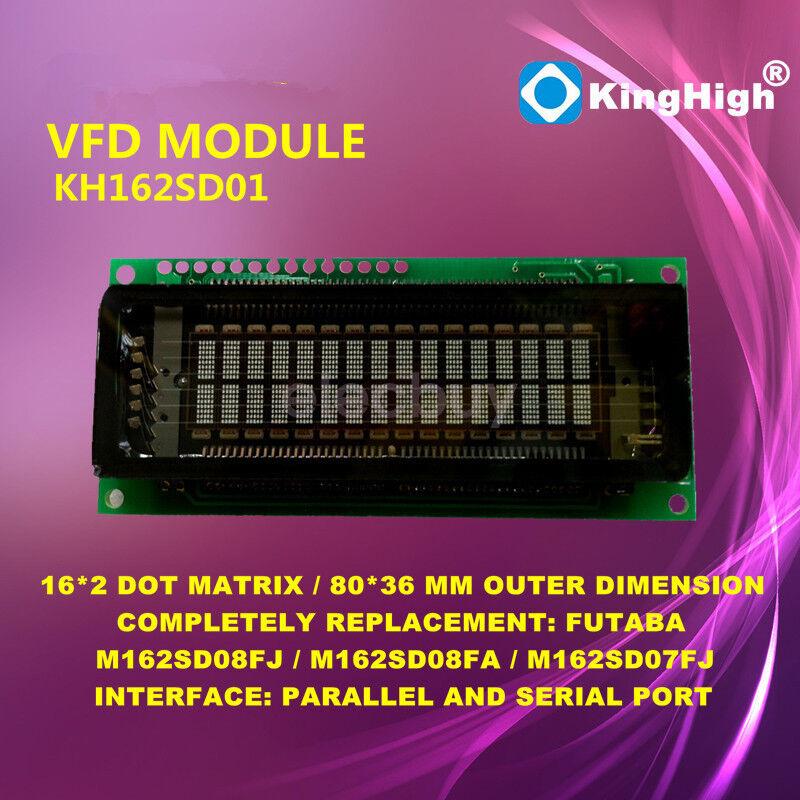 16x2 Dot Matrix Characters VFD Display Compatible with LCM1602 FUTABA M162SD07FA
