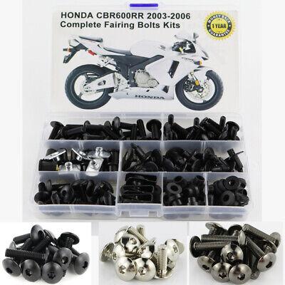 - For Honda CBR600RR 2003 2004 2005 2006 Complete Fairing Bolt Kit Body Screws
