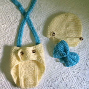 Crotchet baby set, little boy set, first birthday, photo prop