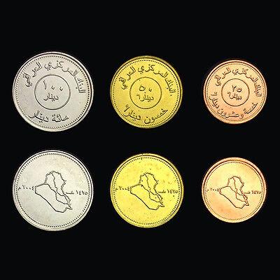 - Asian-IRQ Set 3 Coins, 25 50 100 Dinars, 2004, UNC