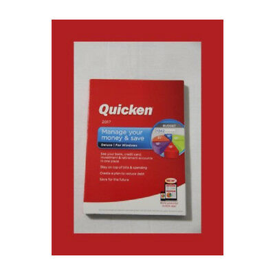 Quicken Deluxe 2017 Personal Finance   Budgeting Software Pc Disc