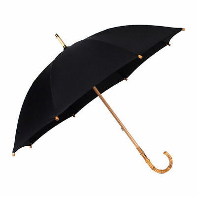 Mens Large Rain Umbrellas Bamboo Rattan Curved Handle Strong Windproof Anti UV, used for sale  China