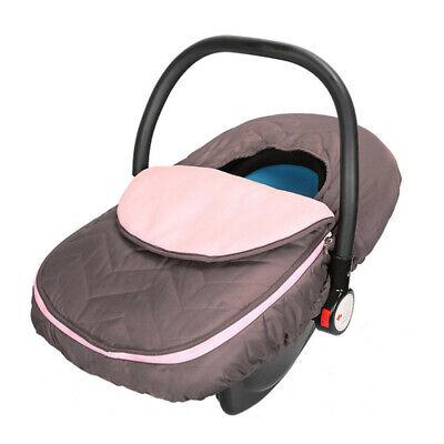 غطاء مقعد السيارة للرضع مظلة مقاومة للطقس سيارة أطفال شتاء دافئ وردي جديد الولايات المتحدة