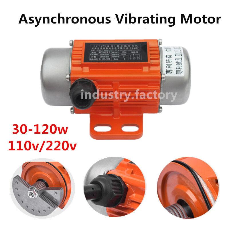 Vibration Motor AC 220V 1phase Vibrating Asynchronous Motor 30-120W Vibrator CNC