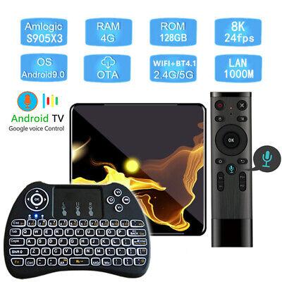 Android 9.0 X99 Max+ S905X3 Quad Core 128GB Flash Dual WiFi 5G Bluetooth TV Box
