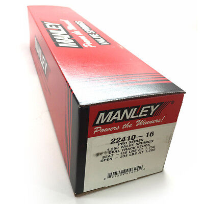 Manley Valve Spring Set 22410-16; Professional Oval Track 370 lbs/in (Single Valve Spring Set)
