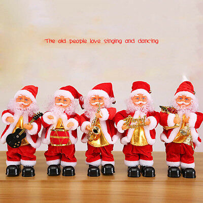 Cute Santa Claus Dancing Singing Music Toy Plush Christmas Dolls Electric Toys ()