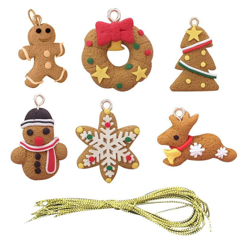 Kids Favors Pendant Gingerbread Man Christmas Tree Ornaments Xmas Decoration