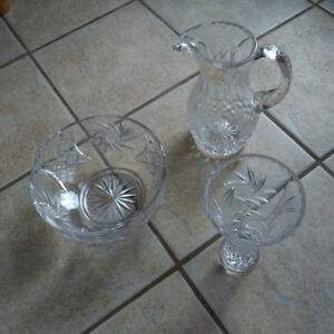 3 pieces of Pin Wheel Crystal