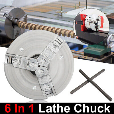 Self-centering 3 Jaw Lathe Chuck 45mm M121 For Mini 6 In 1 Lathe 2x Lock Us