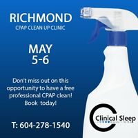 May 5-6: FREE CPAP cleaning, disinfecting, and calibration