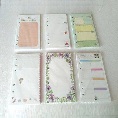 A6a5 Cherry Notebook Inner Pages 6 Holes Planner Filler Paper School Supply