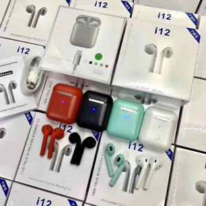 i12 tws AirPods - iPhone & samsung Bluetooth headset -2019 model