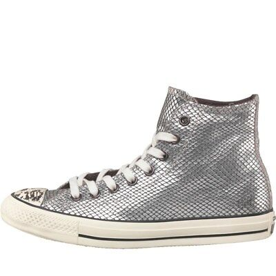 Converse CT All Star Hi Snakeskin Trainers, Silver, UK 3.5 EU 36 US 5.5, BNIB