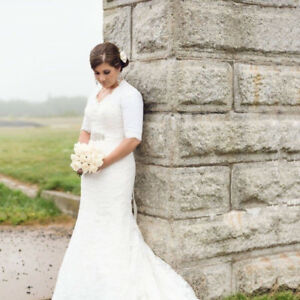 Cream Lace wedding dress