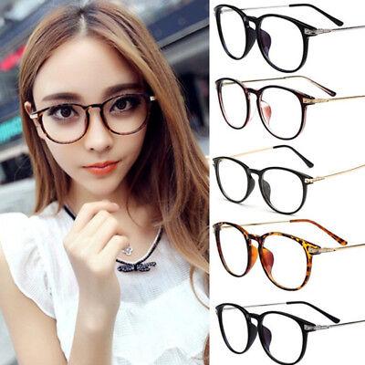 Fashion Trendy Vintage Retro Frame Clear Lens Nerd Geek Glasses Eyeglass Eyewear (Trendy Nerd)
