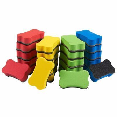 24-pack Magnetic Whiteboard Eraser Bone-shaped Magnetic Dry Erasers For Kids