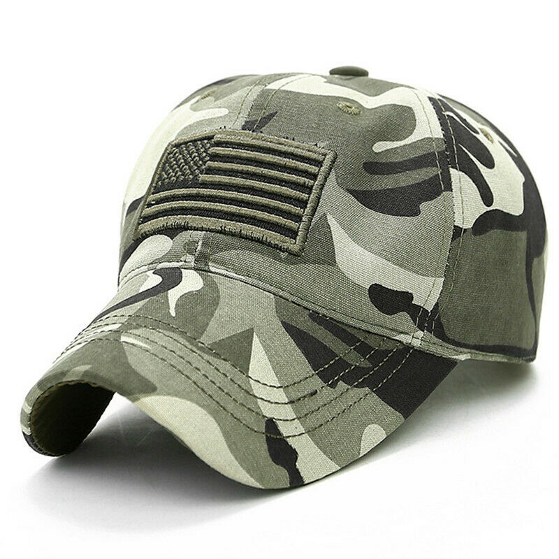 Mens Womens Tactical Camo Baseball Cap Military Army Flag Snapback Hat Unisex Clothing, Shoes & Accessories