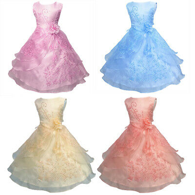 Organza Flower Girl Dresses Bridesmaid Wedding Party Formal Graduation for Kid - Flower Girl Dresses Organza
